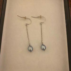 Honora silver and pearl drop earrings (NWOT)